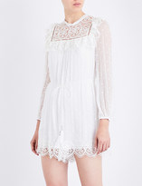 Zimmermann Meridian Circle Lace silk-georgette playsuit