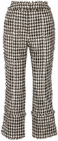 Erdem Verity Metallic Cotton-blend Tweed Straight-leg Pants - Black