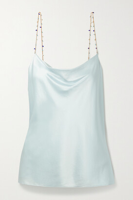CAMI NYC The Busy Bead-embellished Silk-blend Charmeuse Camisole