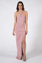 Donna Mizani X Front High Slit Gown