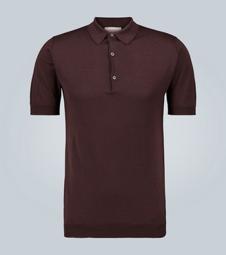 John Smedley Adrian Sea Island cotton polo shirt