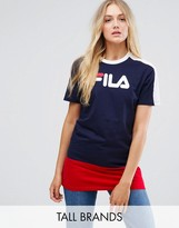 Fila Tall Color Block Logo Longline T-shirt