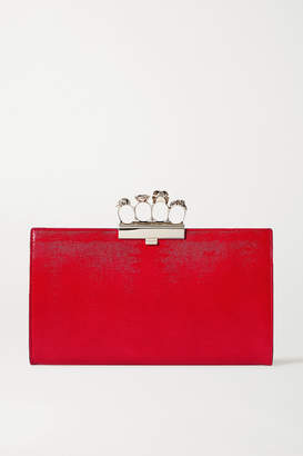 Alexander McQueen Skull Textured-leather Clutch