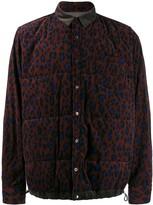 Sacai leopard print padded jacket