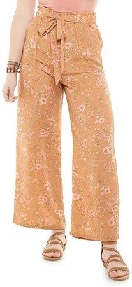Juniors' Live To Be Spoiled Paperbag Waist Pants