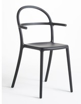 Kartell Generic C Matte Stacking Patio Dining Chair (Set of 2 Color: Black