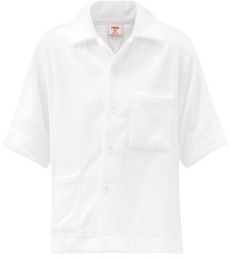Terry. Oversized Cotton Shirt - White