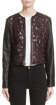 Yigal Azrouel Women's Lace & Lambskin Leather Moto Jacket