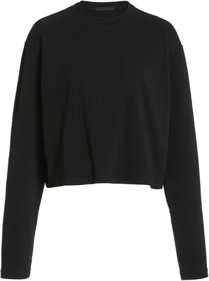 Wardrobe NYC Oversized Cropped Cotton Long-Sleeve T-Shirt