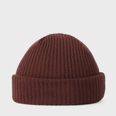 Paul Smith Men's Burnt Red Cashmere Beanie Hat