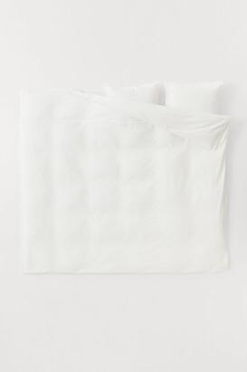 H&M Fringe-trimmed Duvet Cover Set