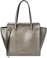 Salvatore Ferragamo Medium Amy Laminated Grained Leather Bag