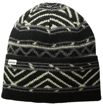 Burton Hutsworth Beanie (True Black/Indigo Stripe) Beanies