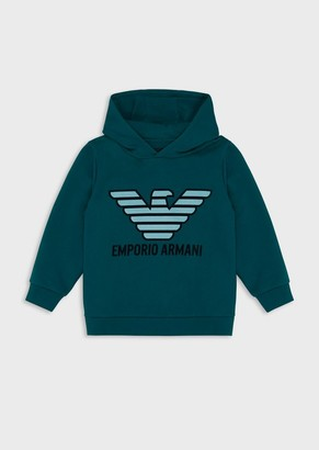 Emporio Armani Hooded Sweatshirt With Logo Print