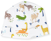 Kissy Kissy Jungle Jaunt Pima Baby Hat, Navy/White