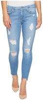 7 For All Mankind Ankle Skinny w/ Destroy & Step Hem in Melbourne Sky