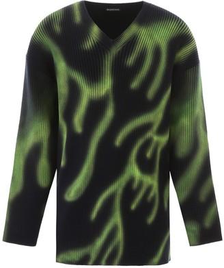 Balenciaga flame print sweater