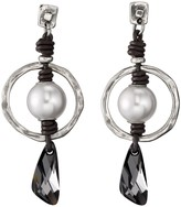 Uno de 50 Lunatic Swarovski Accented Orbit Drop Earrings