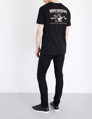 True Religion Metallic logo-print cotton-jersey T-shirt