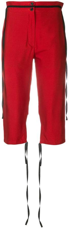 Ann Demeulemeester string embellished cropped trousers