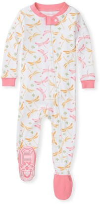 Burt's Bees Dragonfly Life Organic Baby Zip Front Snug Fit Footed Pajamas