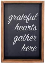 "New View Grateful Hearts Gather Here"" Metal Cut-Out Framed Wall Art"