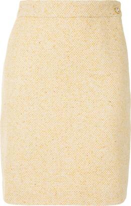 Gucci High-Waisted Tweed Skirt