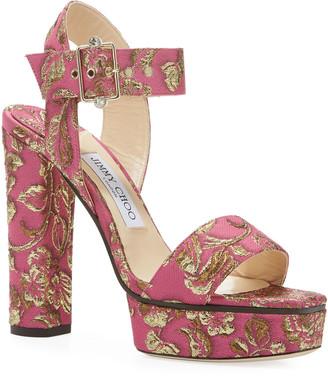 Jimmy Choo Maie Brocade Platform Sandals