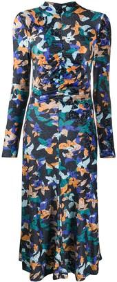 Stine Goya Asher geometric print midi dress