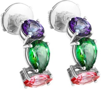Swarovski Arc-en-ciel Earrings Multi-coloured Treated