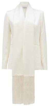 Gabriela Hearst Hera Fringed-shawl Silk-satin Jacket - Womens - Ivory
