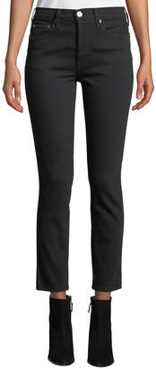 RE/DONE High-Rise Stretch Double-Needle Cropped Jeans