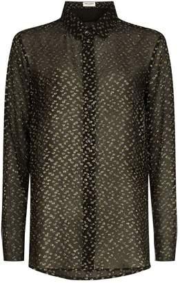Saint Laurent Metallic Spot Shirt