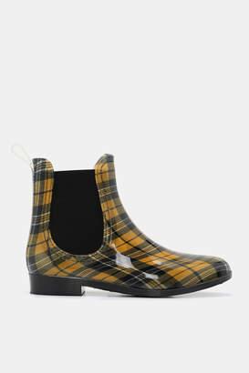 Ardene Plaid Chelsea Rain Boots - Shoes |