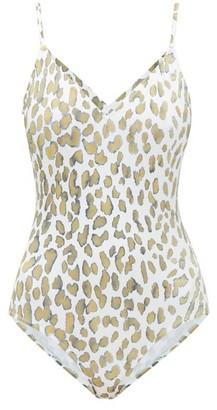 Marios Schwab Asterias Printed Swimsuit - Green Multi