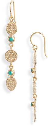 Anna Beck Turquoise Linear Drop Earrings
