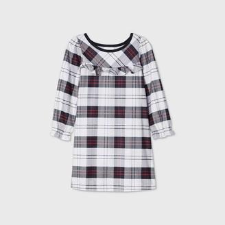 Toddler Girls' Holiday Plaid Flannel Matching Family Pajama Nightgown - WondershopTM