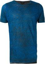 Avant Toi round neck T-shirt - men - Linen/Flax - S