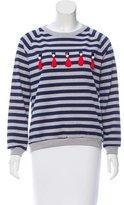 Mother of Pearl Embellished Printed Sweatshirt