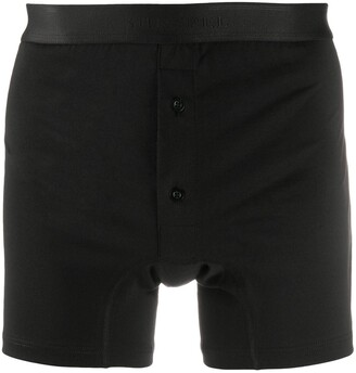 Sunspel Buttoned Branded Boxers