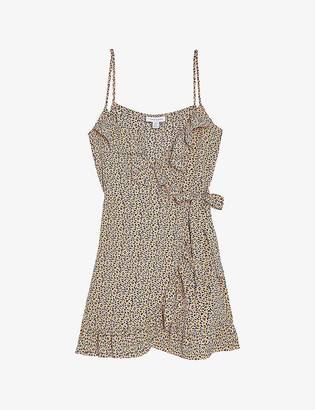 Topshop Leopard print crepe mini dress
