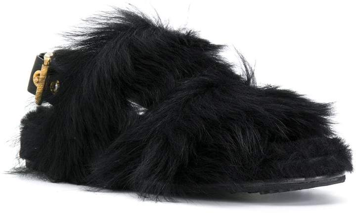 Car Shoe furry sandals