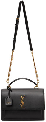 Saint Laurent Black Medium Sunset Satchel Bag