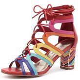 Django & Juliette New Niche Bright Multi Womens Shoes Casual Shoes Heeled