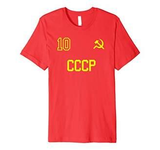 Cccp Retro USSR Soccer Jersey Soviet Union Football T-Shirt