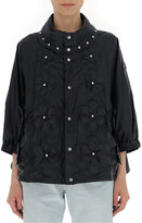 Moncler Flower Quilted Studded Detail Jacket