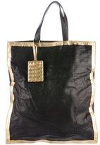 Bottega Veneta Metallic-Trimmed Leather Tote