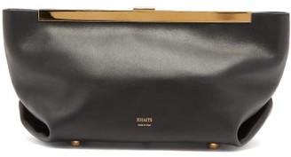 KHAITE Aimee Leather Clutch Bag - Black