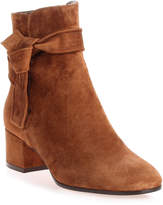 Gianvito Rossi Leslie brown suede ankle boot