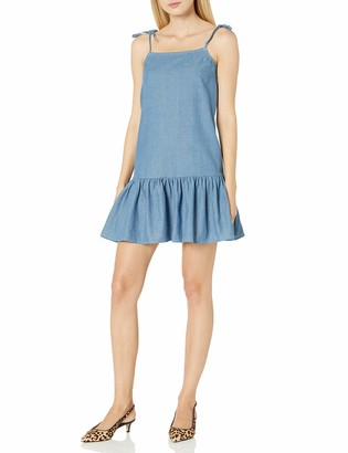 Lucca Couture Women's Mini Dress with Strap Ties